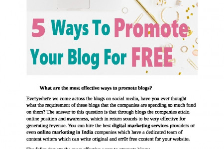 What are the most effective ways to promote blogs? Infographic
