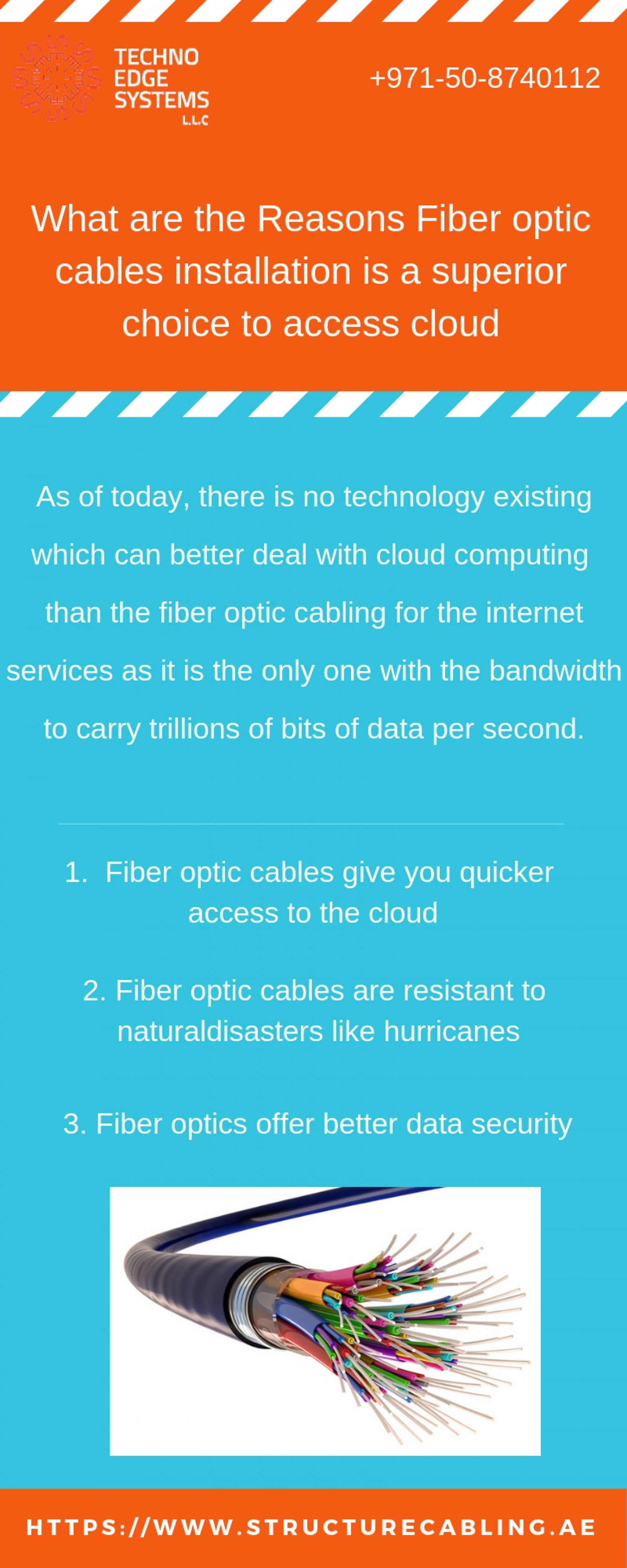 What are the Reasons Fiber optic cables installation is a superior choice to access cloud? Infographic