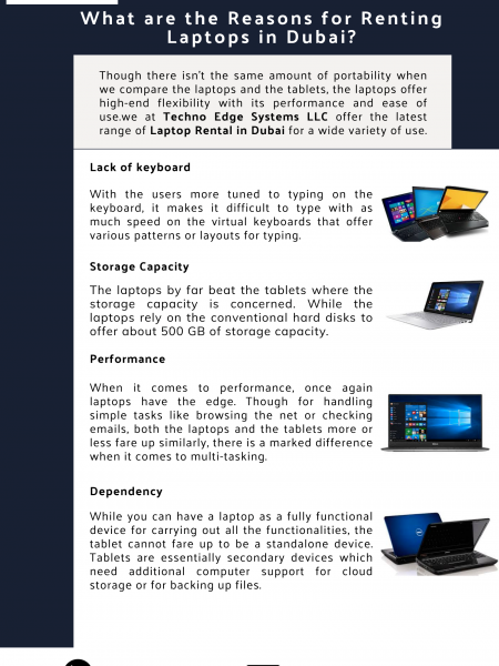 What are the Reasons for Renting Laptops in Dubai? Infographic