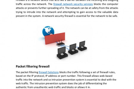 What are the types of network security firewalls Infographic