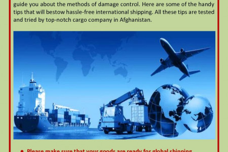 What Are Tips For Preparing Cargo For International Shipping? Infographic