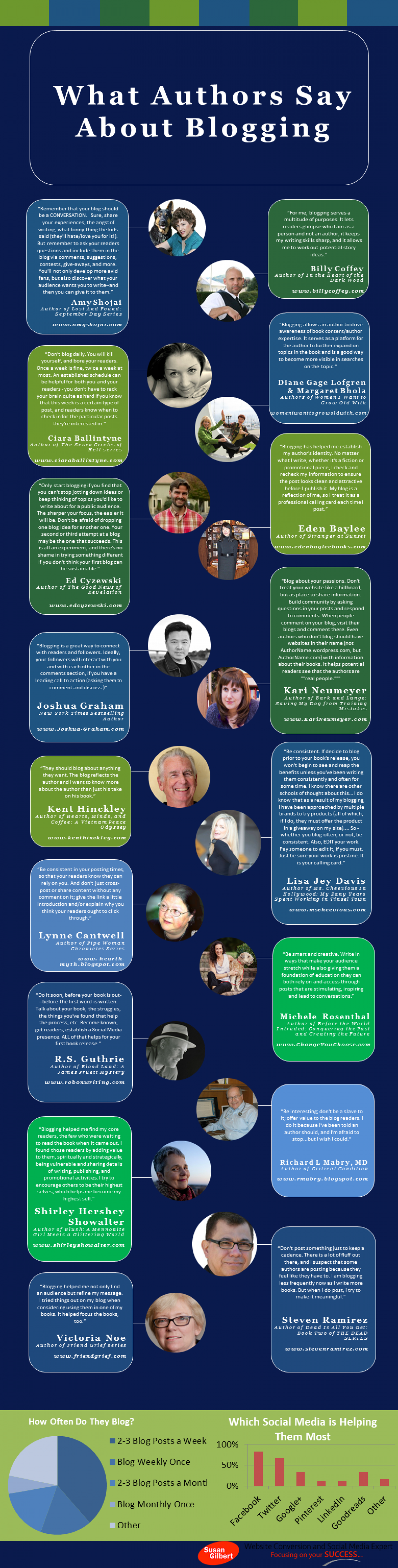 What Authors Say About Blogging Infographic