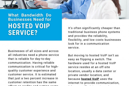 What Bandwidth Do Businesses Need for Hosted VoIP Service? Infographic