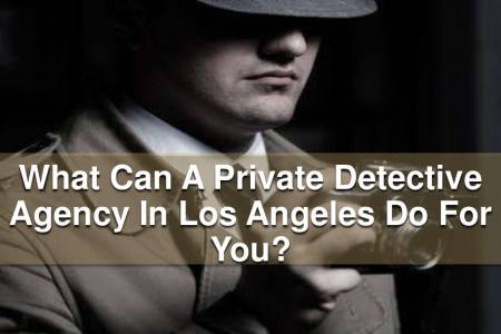 What Can A Private Detective Agency In Los Angeles Do For You?  Infographic