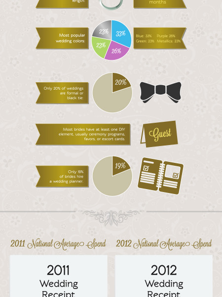 what does a wedding cost infographic