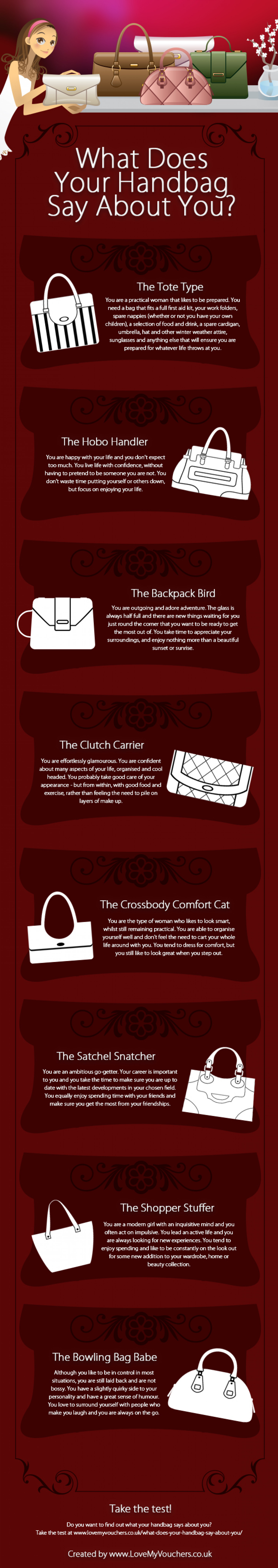 What Does Your Handbag Say About You? Infographic