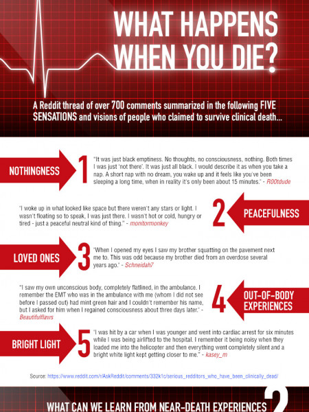 WHAT HAPPENS WHEN WE DIE? Infographic