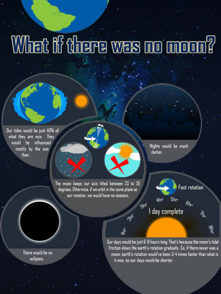 What if there was no Moon? Infographic