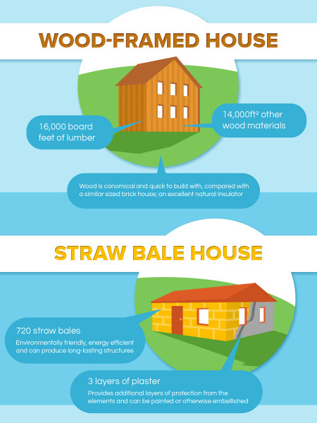 What Ingredients Make a House? Infographic
