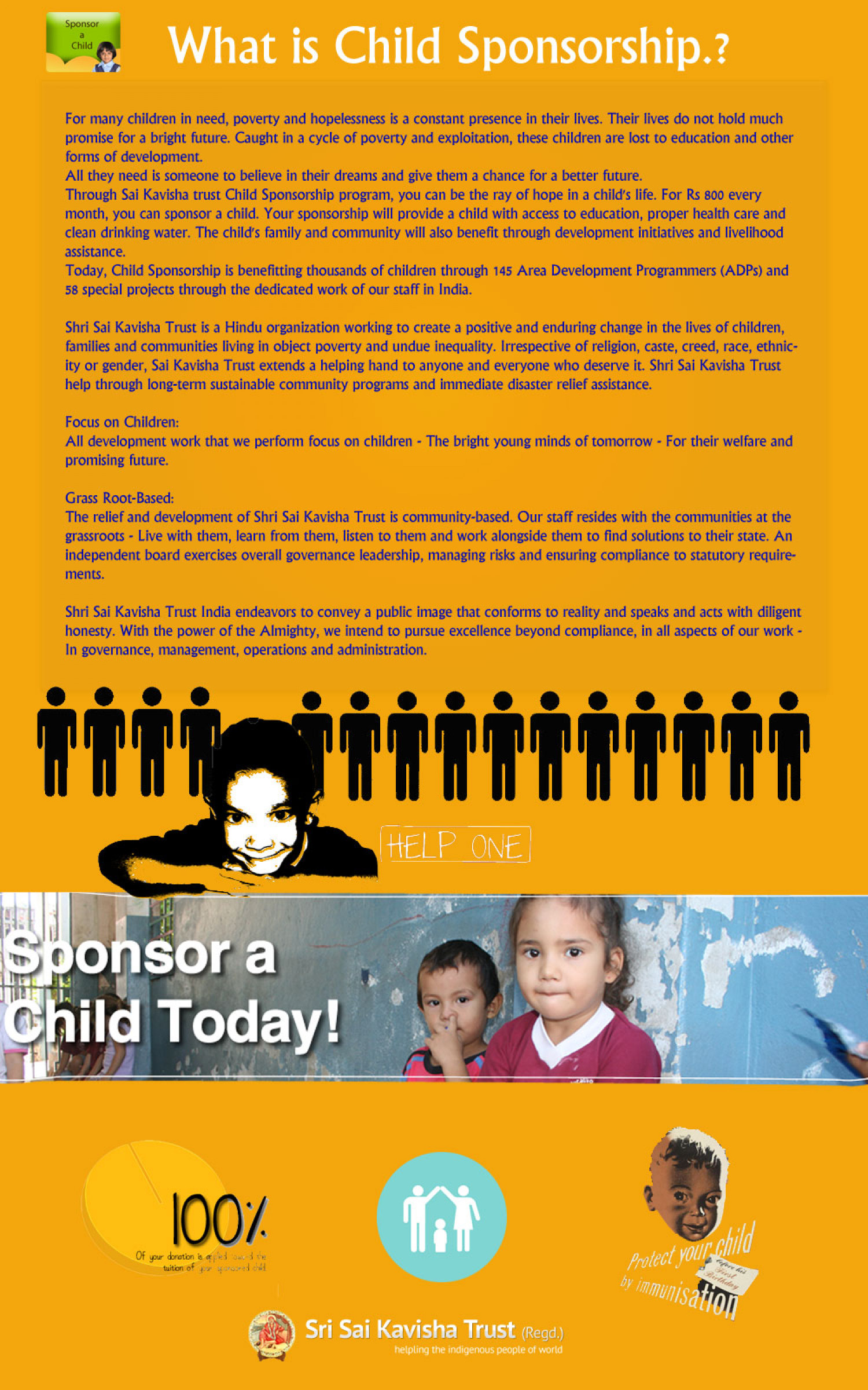 What is Child Sponsorship? Infographic