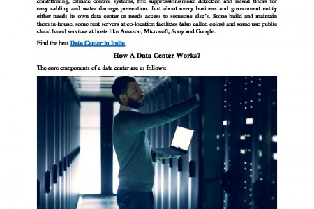 What is Data Center? How data center work? Infographic