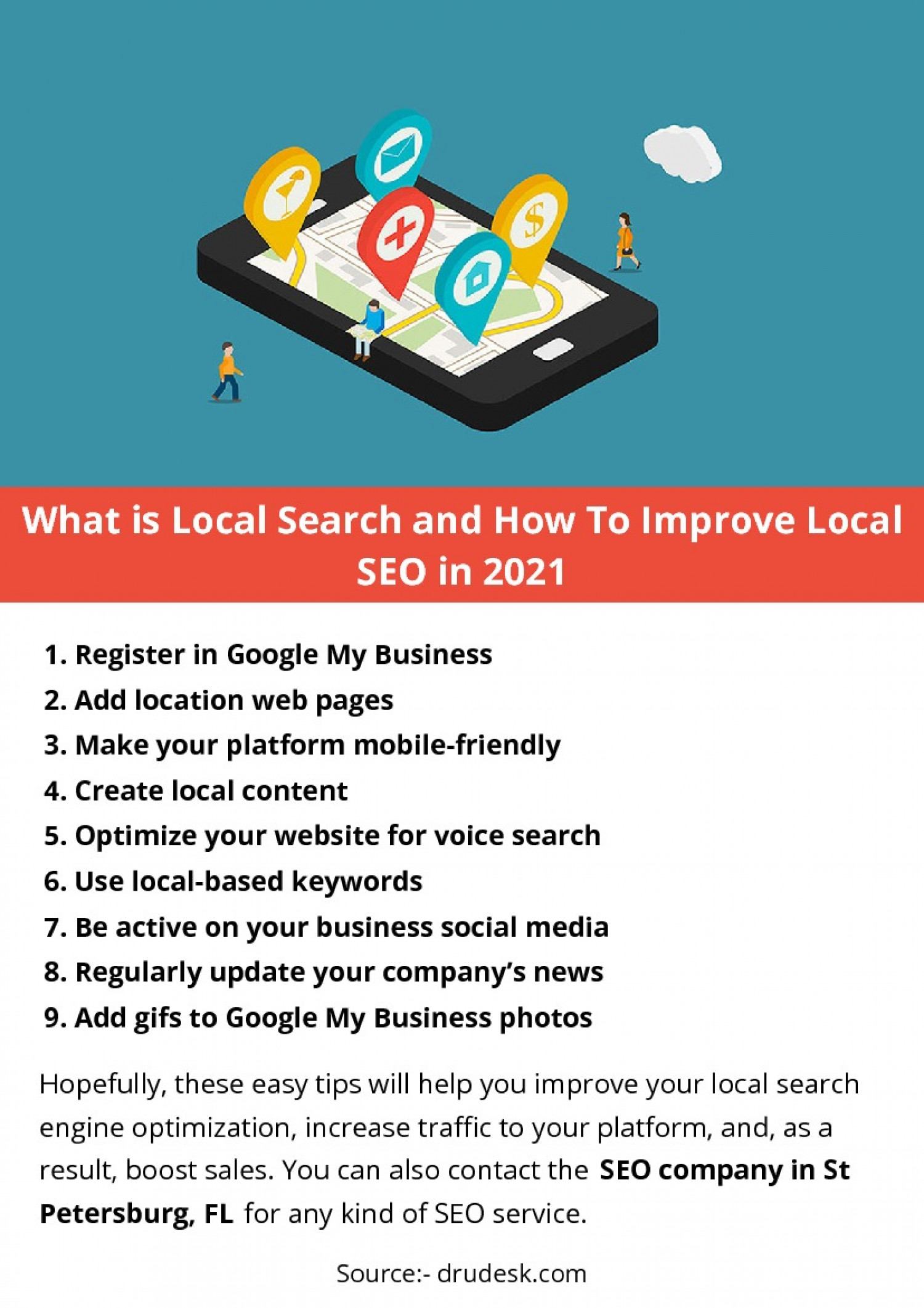 What is local search and how to improve local SEO in 2021 Infographic