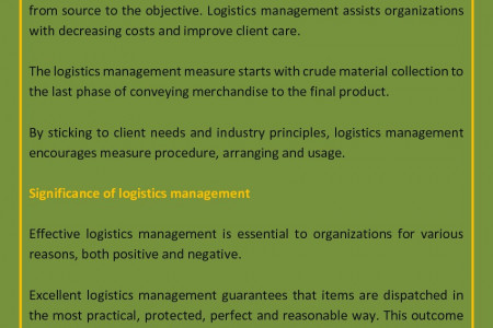 What Is Logistic Management and Why Is It Important? Infographic