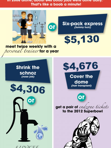 What It Costs to Get Cosmetic Surgery Infographic