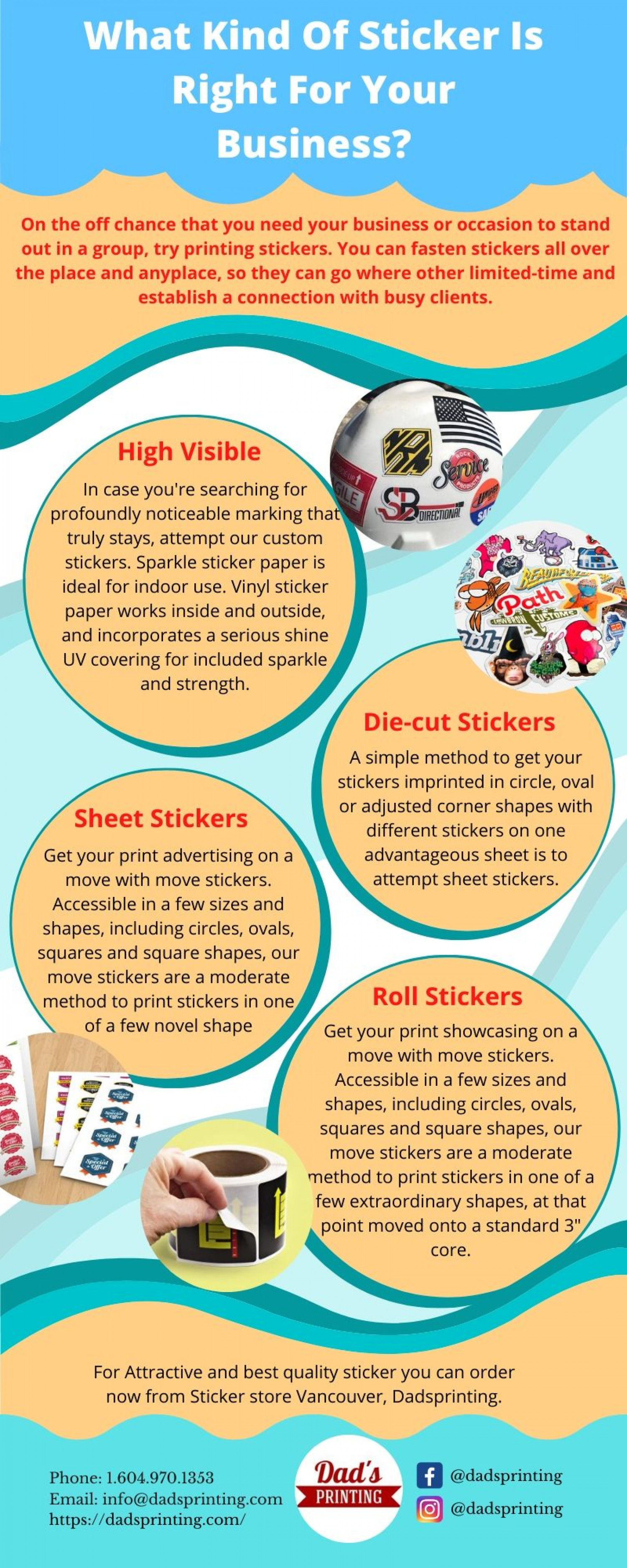 What kind of sticker is right for your business? Infographic