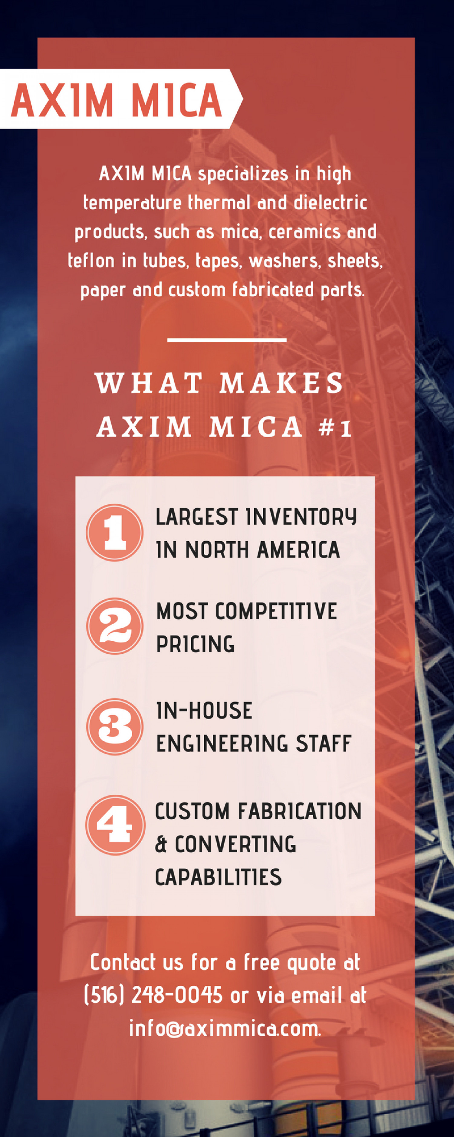What Make Axim #1 Mica Powder Supplier in North America Infographic