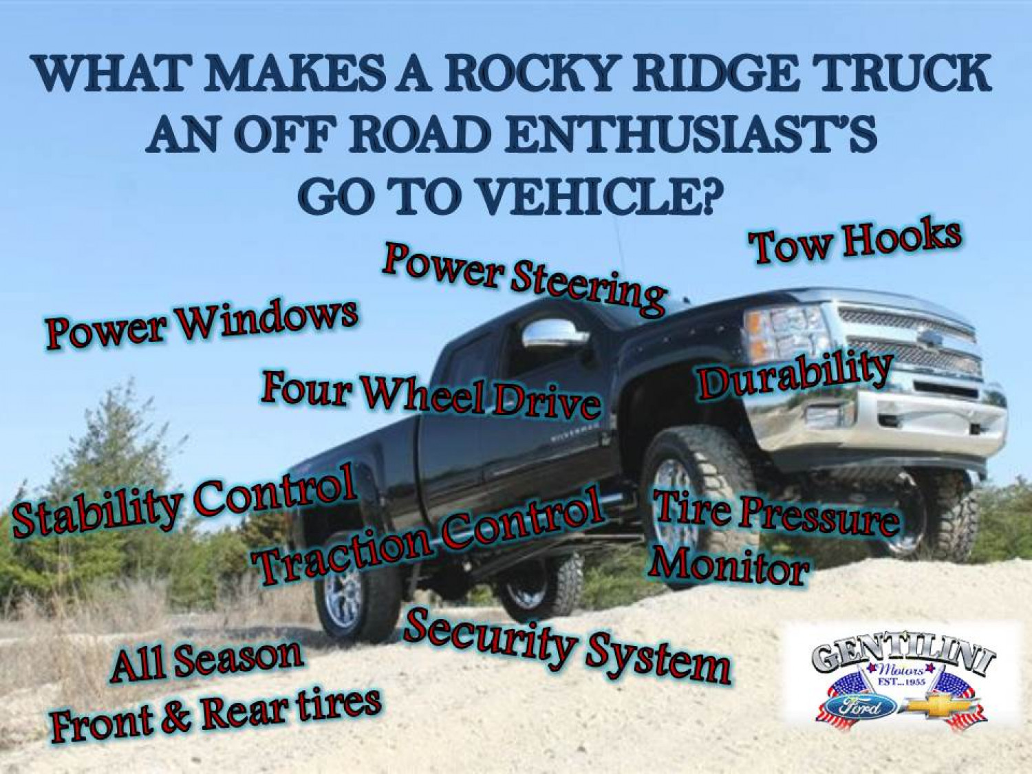 What Makes A Rocky Ridge Truck An Off Road Enthusiast's Go To Vehicle? Infographic