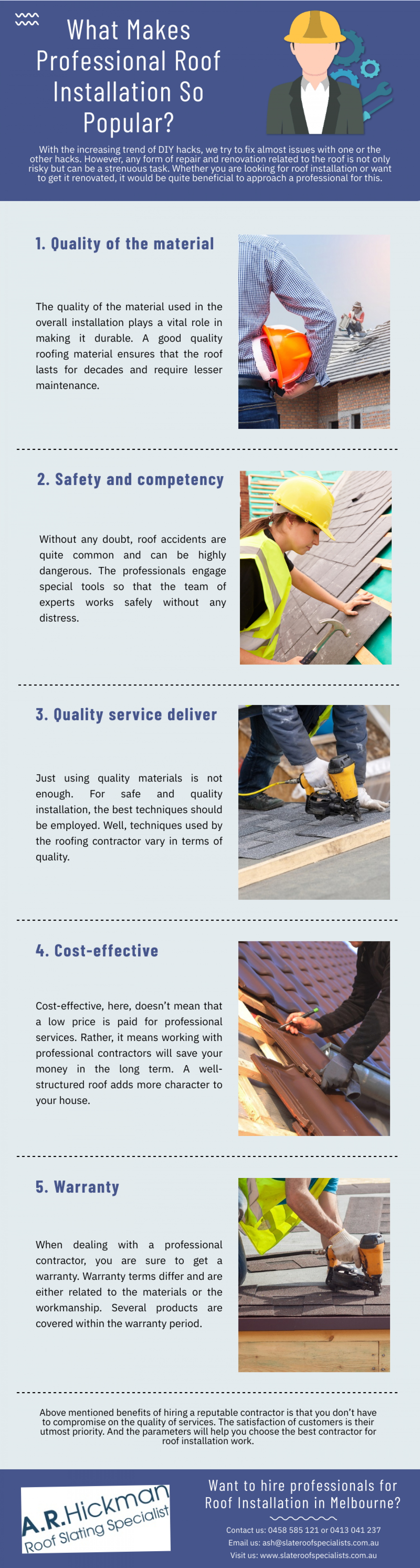 What Makes Professional Roof Installation So Popular? Infographic
