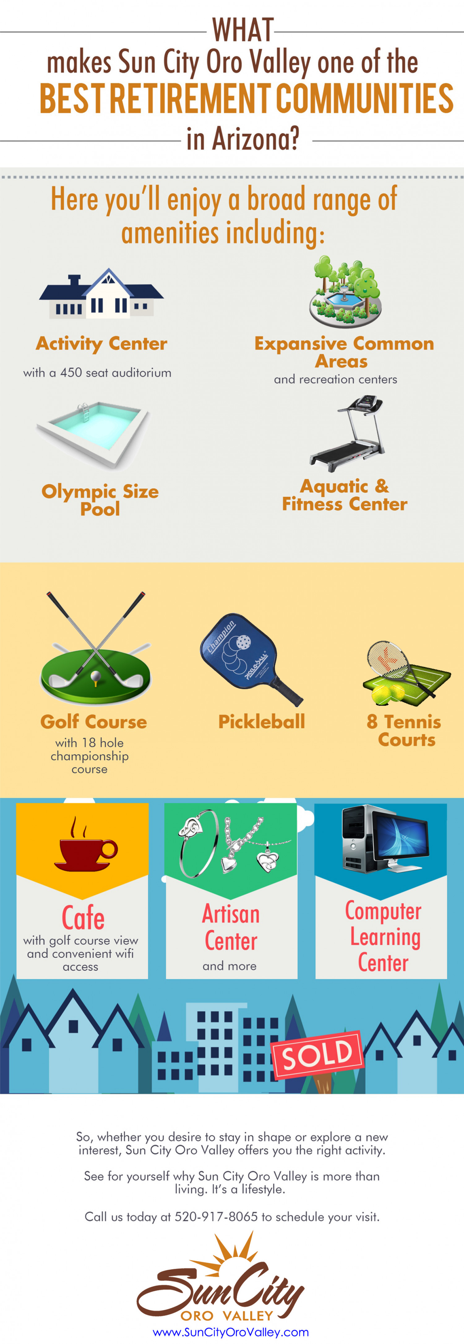 What Makes Sun City Oro Valley one of the Best Retirement Communities in Arizona? Infographic