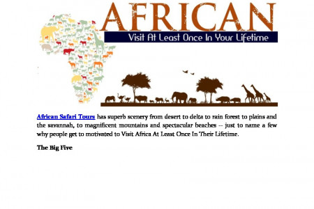 What Motivates People To Visit Africa? Infographic