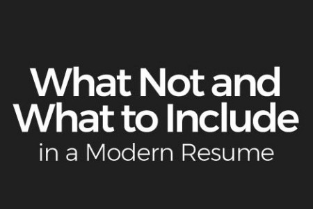 What Not and What to Include in a Modern Resume Infographic