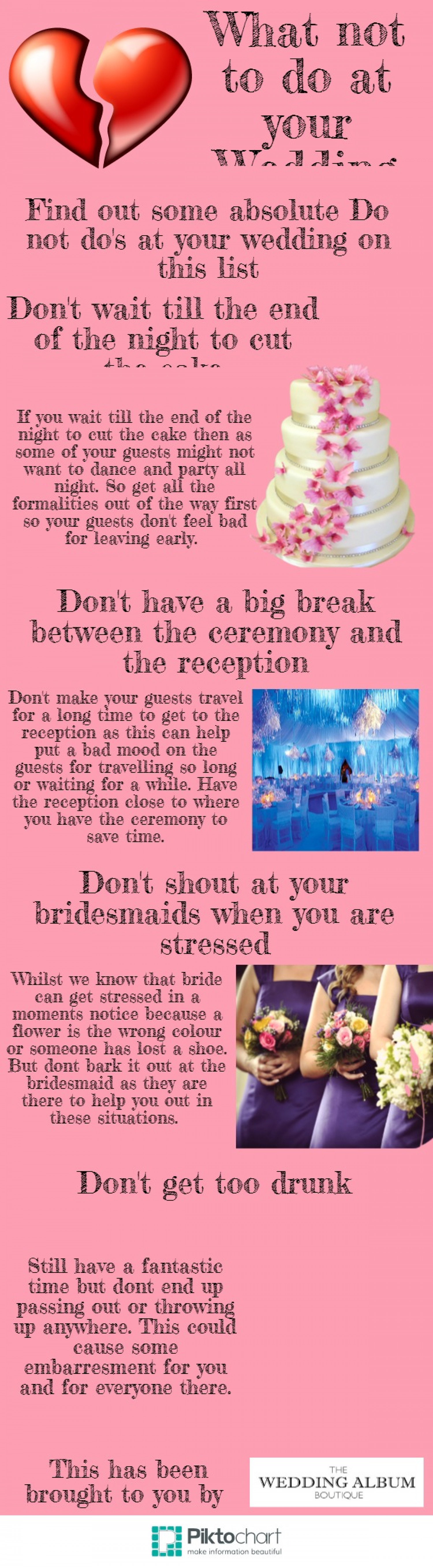 What not to do on your Wedding Infographic