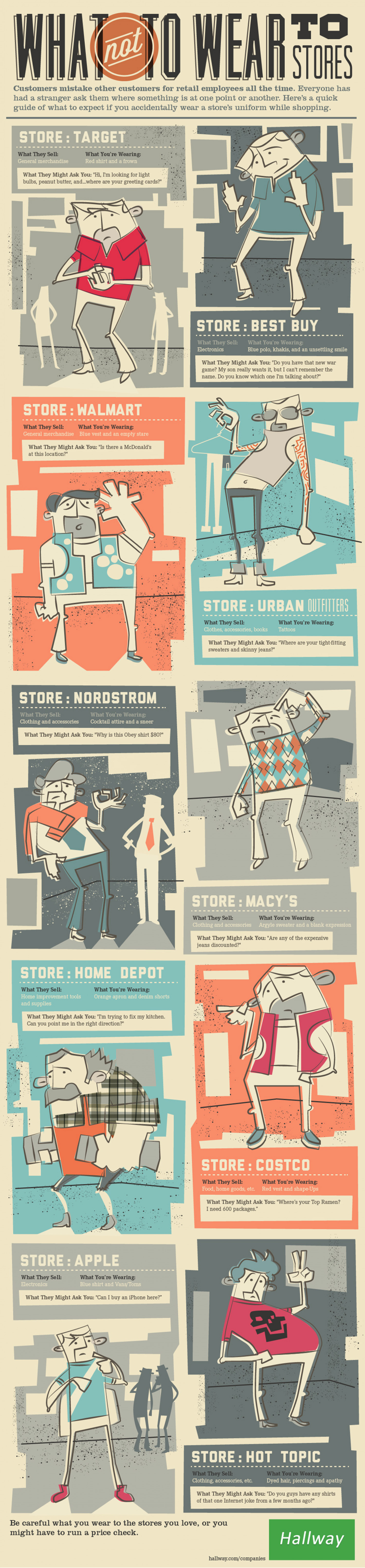 What Not to Wear to Stores Infographic
