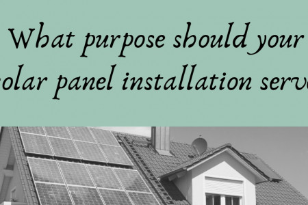 What purpose should your solar panel installation serve? Infographic