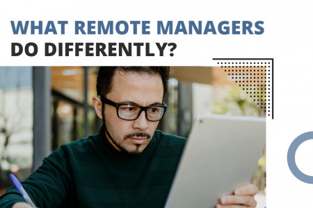 What remote managers do differently? Infographic