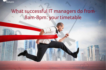 What Successful IT Managers Do from 8am-8pm: Your Timetable Infographic