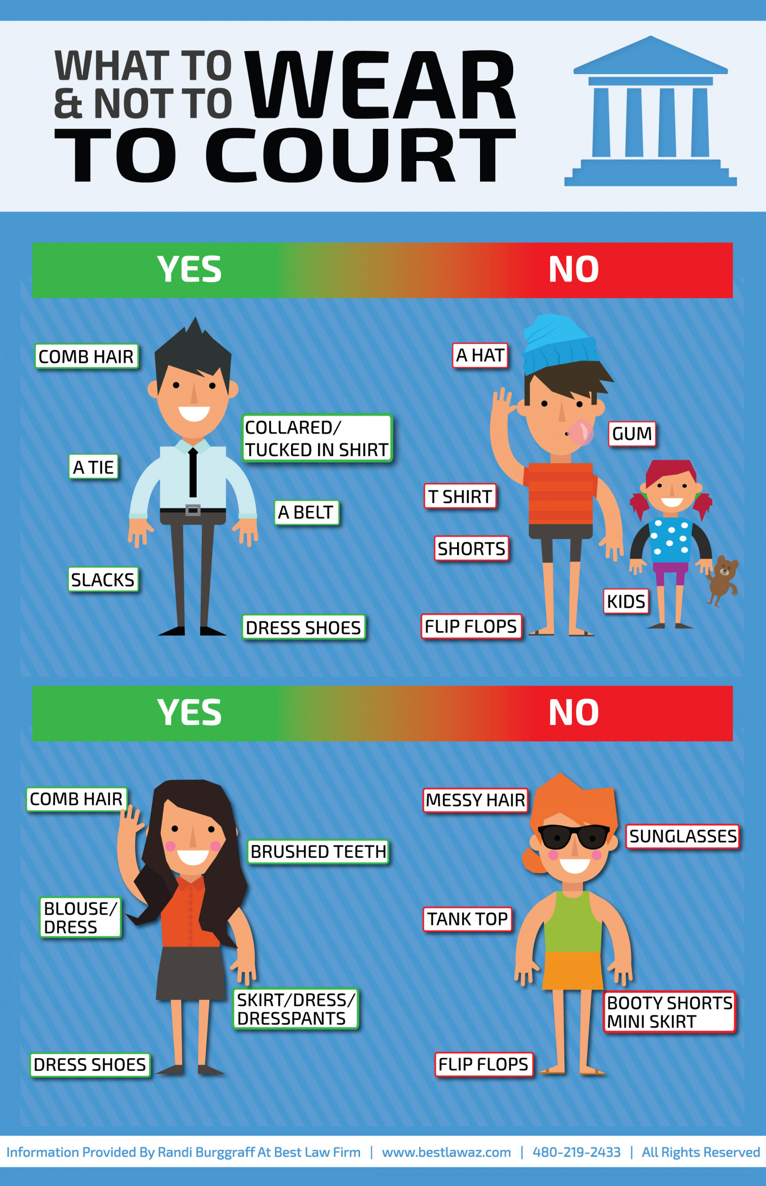 What To & Not To Wear To Court Infographic