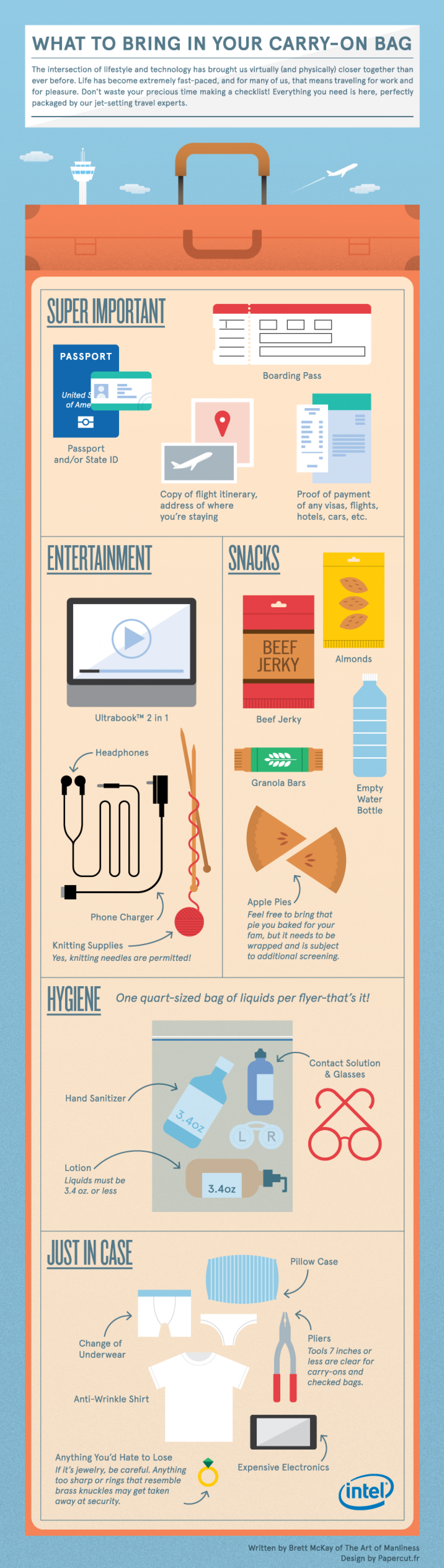 What to Bring in Your Carry On Bag Infographic