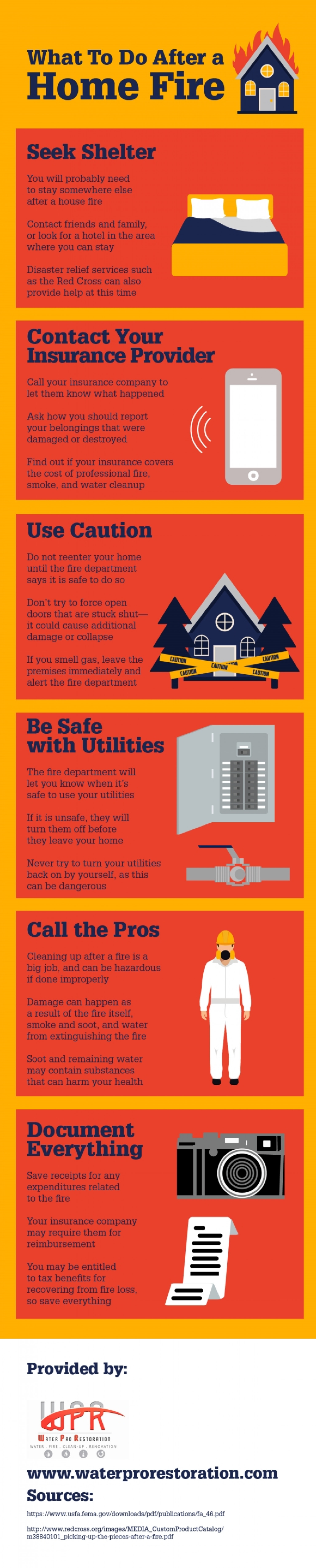 What To Do After a Home Fire  Infographic