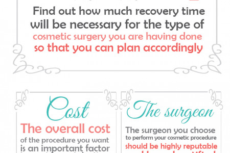 What To Do Before Undergoing Cosmetic Surgery Infographic