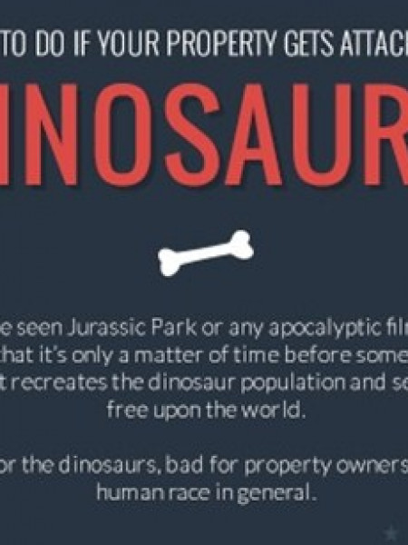 What to do if your property gets attacked by Dinosaurs  Infographic