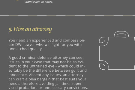 What to do if you are stopped for DWI Infographic
