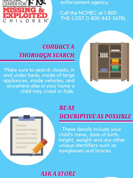 What to do if your child goes missing Infographic