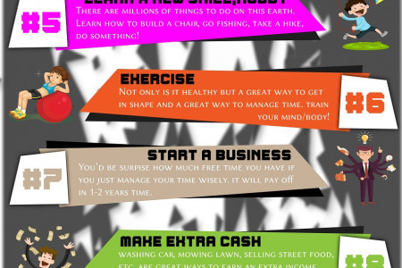 What to do when bored Infographic