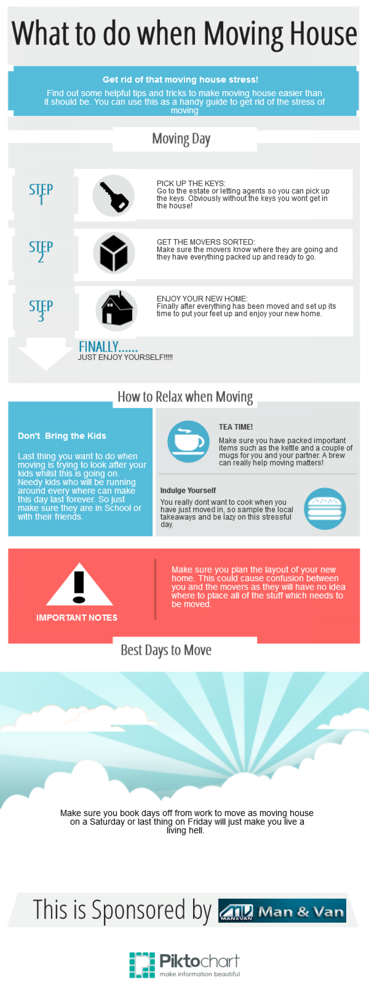 What to do When Moving House Infographic
