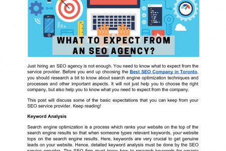What to expect from an SEO agency? Infographic