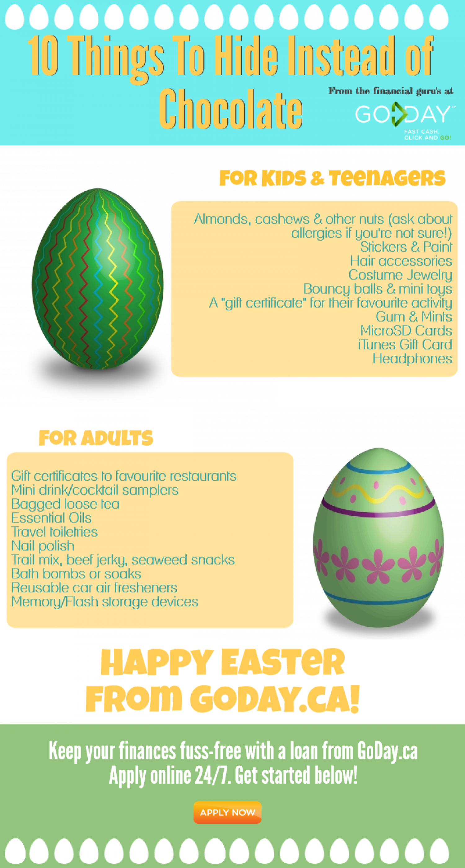 What to hide other than chocolate at easter visual what to hide other than chocolate at easter infographic negle Images