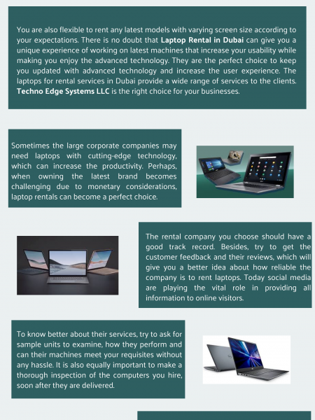 What to Know When Renting Laptops in Dubai? Infographic