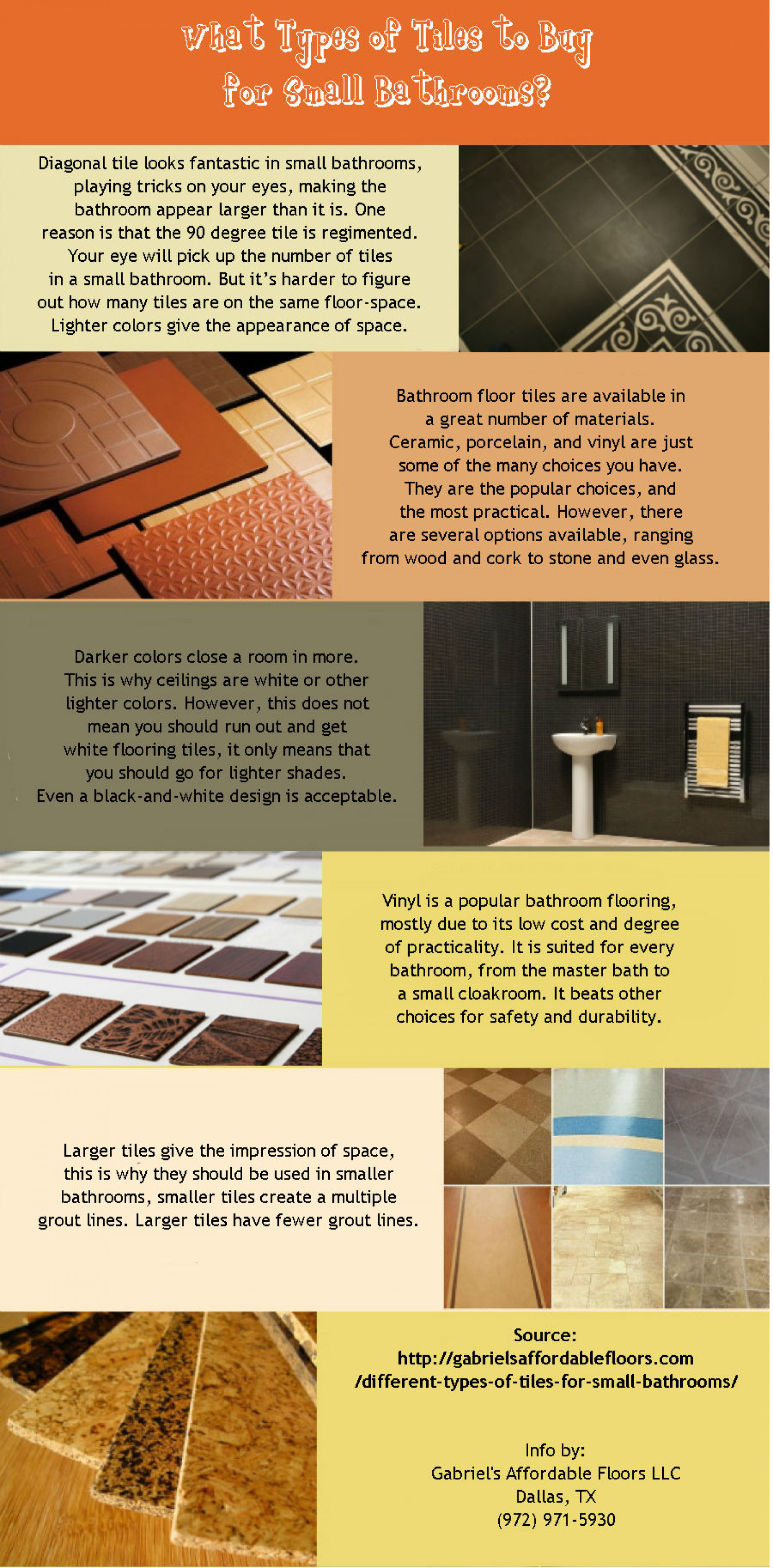 What types of tiles to buy for small bathroom visual what types of tiles to buy for small bathroom infographic dailygadgetfo Choice Image