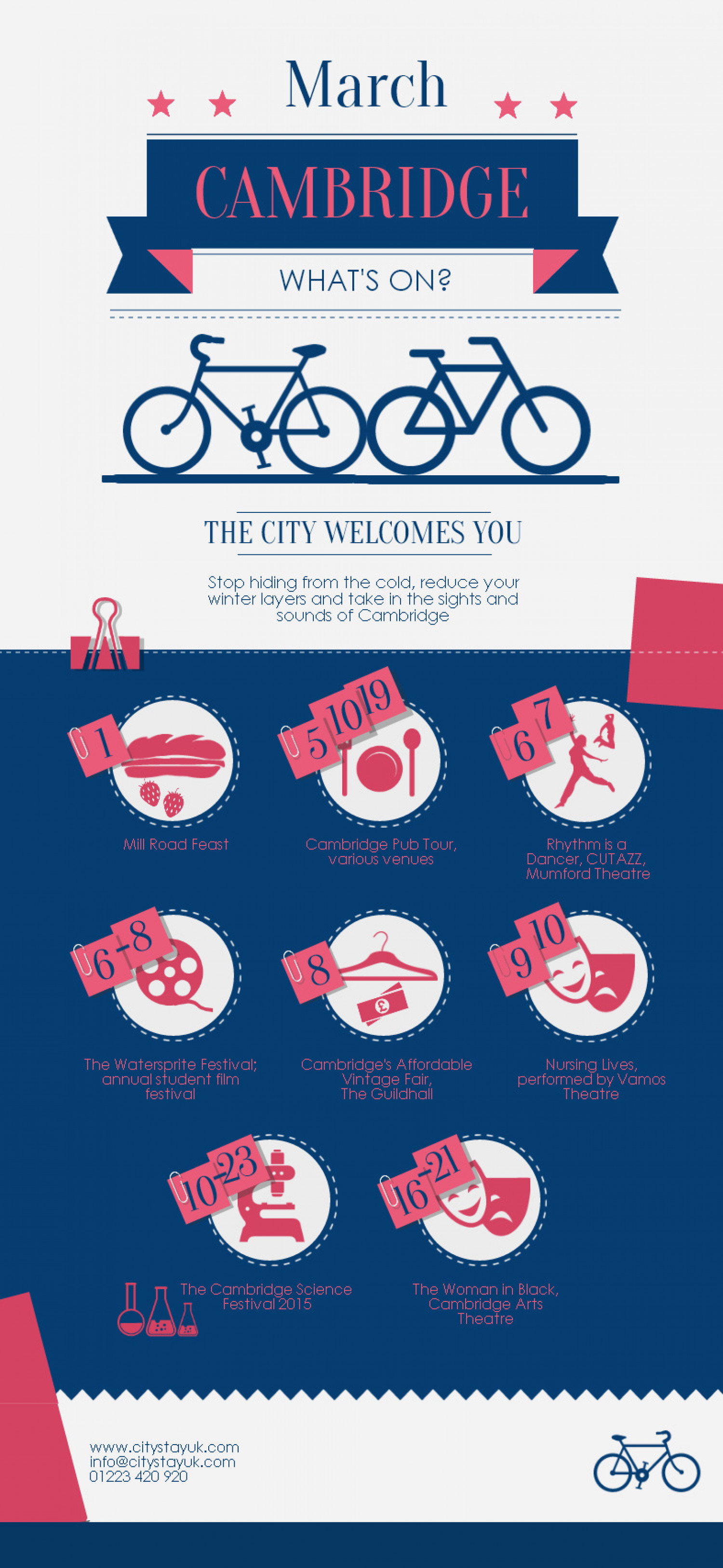 What's Happening in Cambridge this March? Infographic