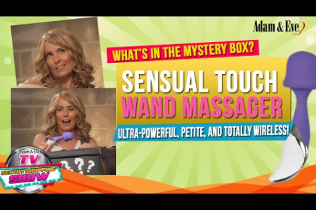 What's in the Mystery Box? Dr. Kat Reviews the Adam & Eve Sensual Touch Wand Massager Infographic