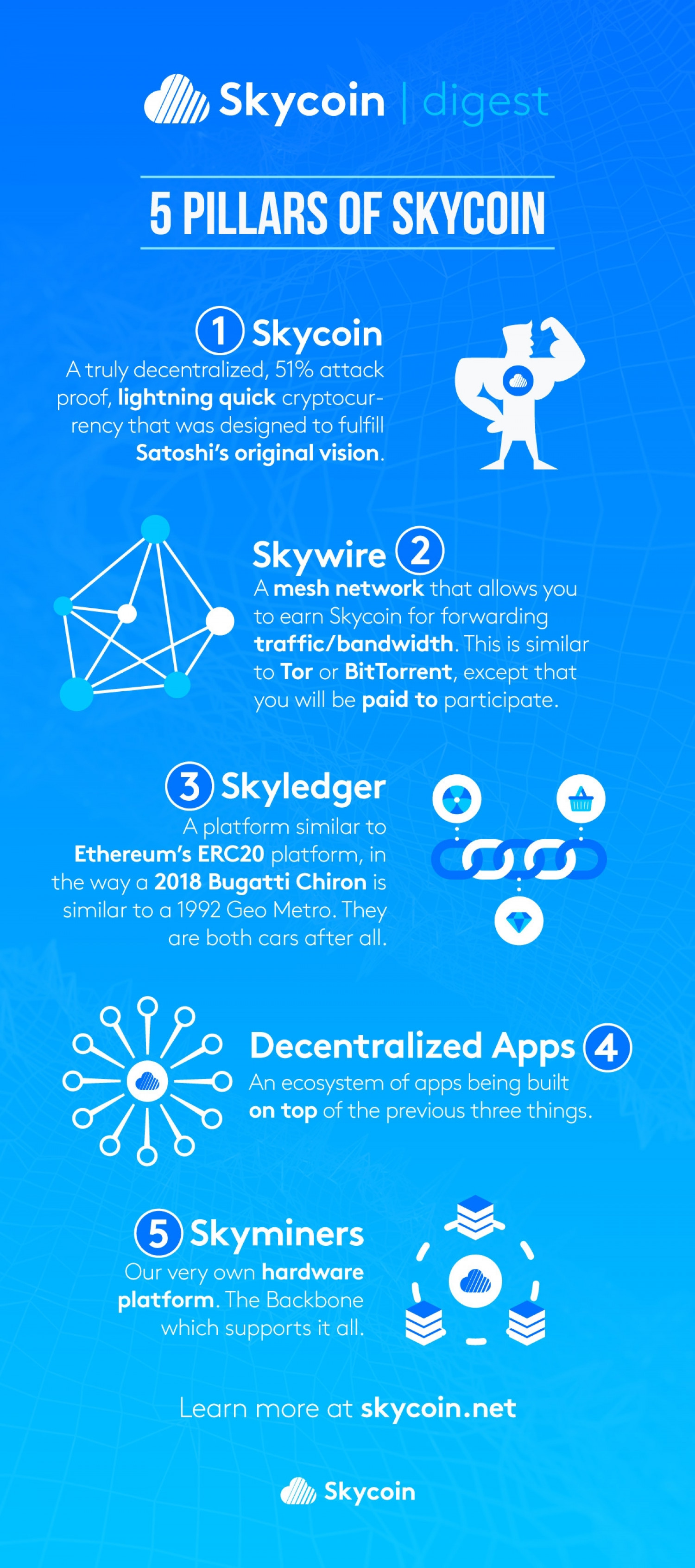 What's the difference between Skycoin and Skywire? Infographic