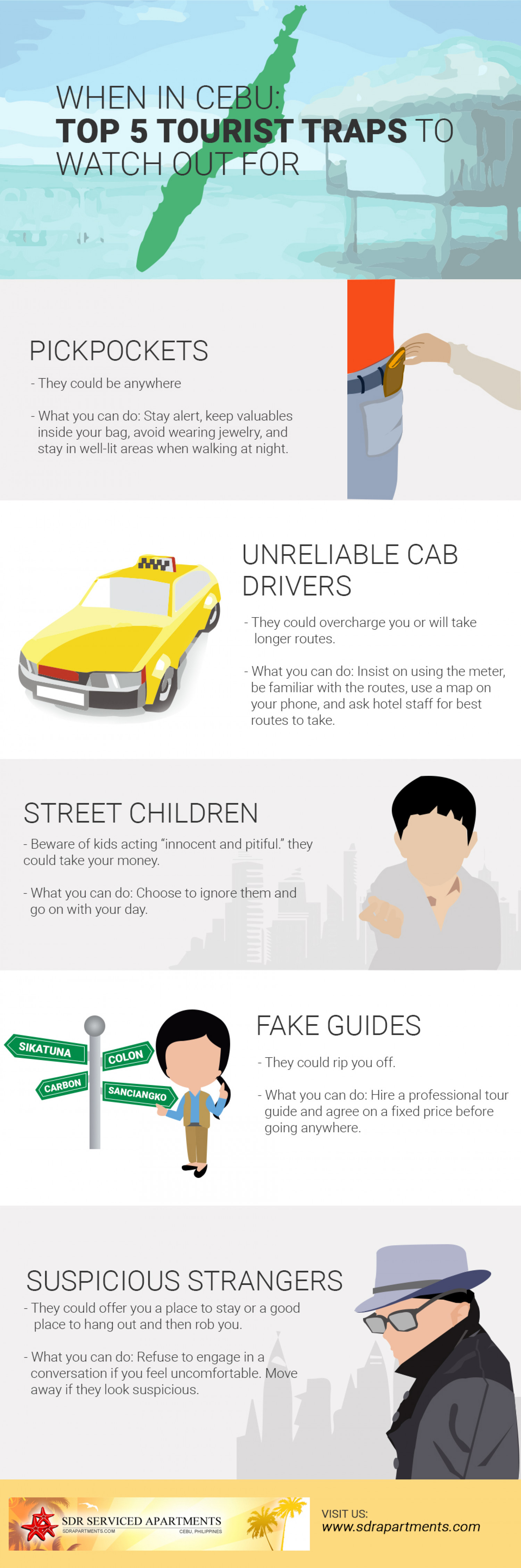 When in Cebu: Top 5 Tourist Traps to Watch Out For Infographic