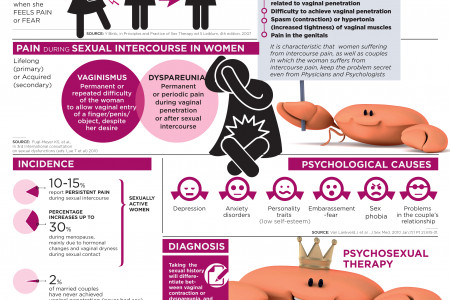 When sexual intercourse causes pain to the women Infographic