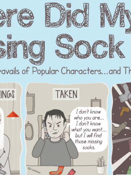Where Did My Missing Socks Go?: The Trials and Travails of Popular Characters...and Their Missing Socks Infographic