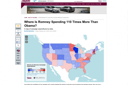 Where Is Romney Spending 110 Times More Than Obama? Infographic